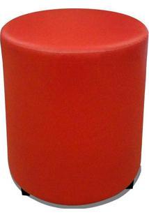 Puff Round Madeira Corano Vermelho - Markine Mobilier