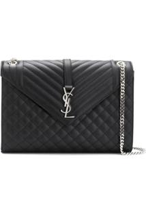 Saint Laurent Loulou Shoulder Bag - Preto