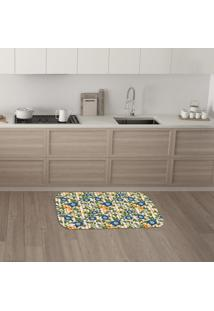 Tapete De Cozinha Mdecore Floral Bege 40X60Cm