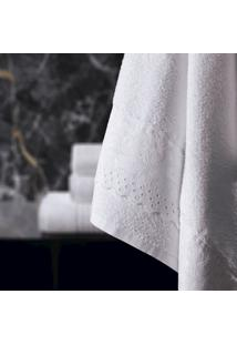 Toalha De Banho Altenburg 100% Algodáo Soft Bordeaux Com Renda - Branco Branco - Tricae