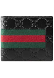 Gucci Carteira Gucci Signature Web - Preto