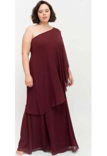 Vestido Longo Almaria Plus Size Pianeta Um Ombro S