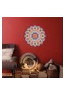 Adesivo De Parede Para Sala Mandala Vermelha