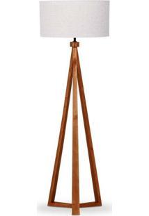 Luminária De Chão Com Cúpula Cilíndrica Imbuia 1002.03 Trevisan