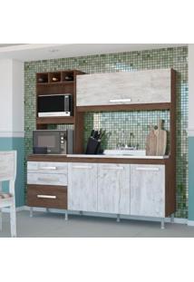 Cozinha Compacta 2 Peças Sem Tampo Flavia Plus Indekes 61211