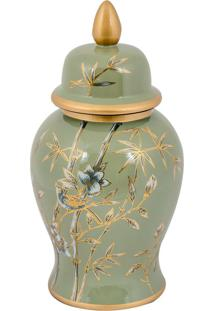 Vaso Decorativo De Porcelana Bwindi P - Linha Nature