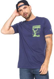 Camiseta New Era Seattle Seahawks Azul