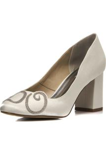 Sapato Boneca Durval Calçados Noiva I Do Salto Confortável - 2300/534 Off White
