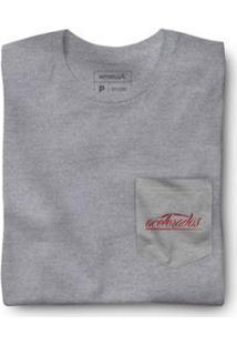Camiseta Malha Variada Bolso Variado Reserva - Masculino-Cinza