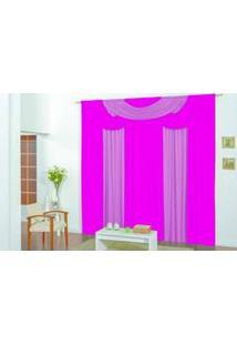 Cortina Bela Quarto E Sala 3,00M X 2,50M Pink Rosa