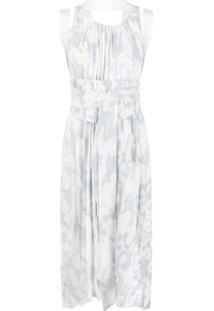 Atu Body Couture Vestido Midi Assimétrico Com Paetês - Azul