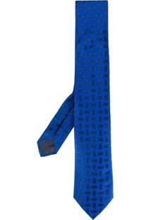 Emporio Armani Gravata Com Padronagem - Azul