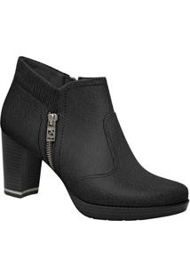 Ankle Boot Com Elástico - Preta- Salto: 7Cmpiccadilly