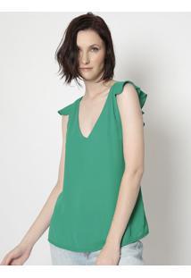 Blusa Com Babados - Verde- Moisellemoisele