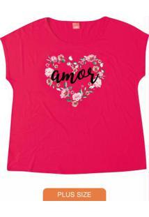 Blusa Pink Estampada Amor Wee!