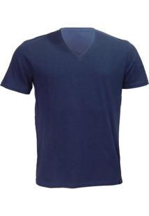 Camiseta Alma De Praia Gola V Flame - Masculino