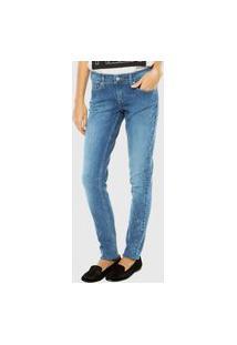 Calça Jeans Levis Skinny Botão Azul