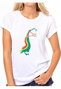 Camiseta Coolest Unicornio Foguete Feminina - Feminino