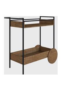 Bar Steel Quadra Vermont/Est. Preta Industrial Artesano