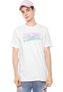 Camiseta Fiveblu Manga Curta Lettering Branca