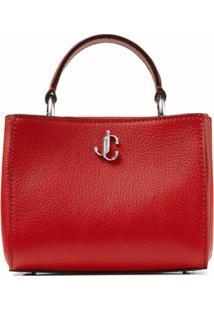 Jimmy Choo Mini Varenne Top-Handle Bag - Vermelho