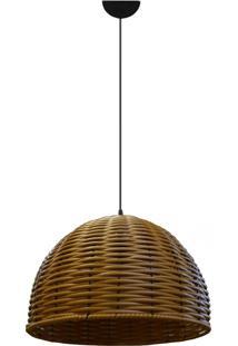 Lustre Pendente De Junco Modelo Meia Bola Modelo Pinus