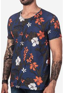 Camiseta Tropical Azul 101664