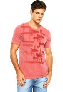 Camiseta Aramis Estampa Quadriculada Vermelha