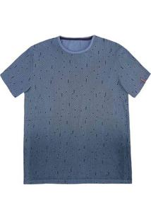 Camiseta Masculina Slim Em Malha De Algodão Com Estampa E Feito Degradê