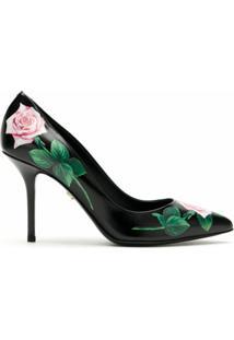 Dolce & Gabbana Scarpin De Couro Estampado - Preto