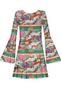 Vestido Manga Longa Estampado Cerâmica - Lez A Lez