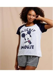 Pijama Feminino Mickey Manga Curta Disney - Feminino