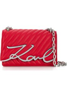Karl Lagerfeld Bolsa Tiracolo K/Signature - Vermelho