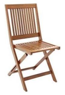 Cadeira Dobravel Fitt Madeira Natural Jatoba - 10855072 - Tramontina