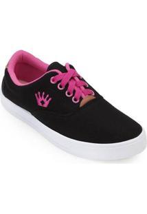 Tênis Mont Car Mark Shoes Feminino - Feminino-Preto+Pink