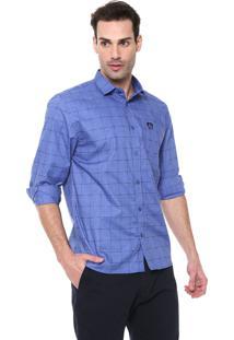 Camisa Mr Kitsch Reta Xadrez Azul