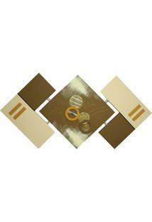 Quadro Losango Ouro Velho 65X125Cm