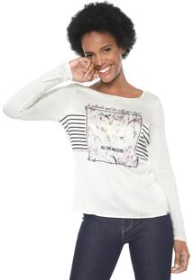 Blusa Cativa All The Matters Off-White