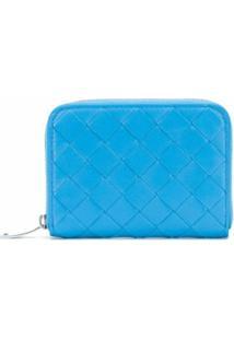 Bottega Veneta Porta-Moedas Com Trama Intrecciato - Azul