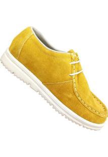Mocassim De Couro Pórtice Canadia - Feminino-Amarelo