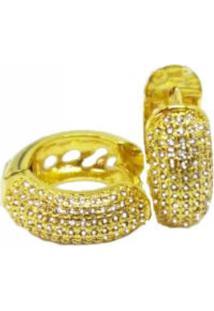 6dc89d1b662df R  89,90. Dafiti Brinco Folheado A Ouro Gola V Amarelo Cristal Pedra  Cravejado 18k Visujoias Microzirconias Argola Com