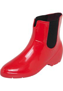 Bota Galocha Fiveblu Chelsea Vermelha