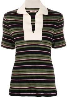 Marni Camiseta De Tricô Com Colarinho - Preto