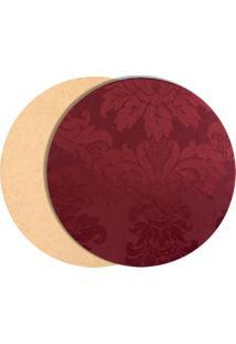 Kit 4 Sousplate C/Capa Tecido Jacquard Vermelho S24 - Rosa - Feminino - Dafiti