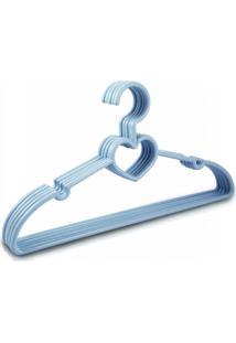 Cabide Com 5 Peças - Infantil Jacki Design Lifestyle Azul