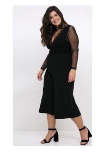 Body Tule Com Renda Curve & Plus Size