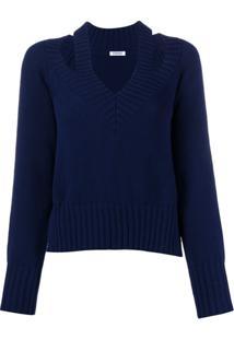 P.A.R.O.S.H. Suéter Com Detalhe De Fenda - Azul