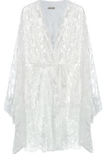 Robe Tule Passione Loungerie – Off White