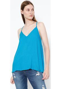 Blusa Lisa Com Alça- Azul- Colccicolcci