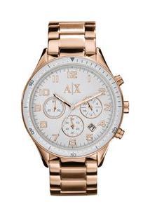 Relógio Armani Exchange Feminino Rose Gold